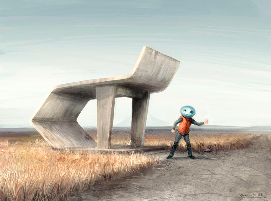 Soviet Bus Stop by robokat