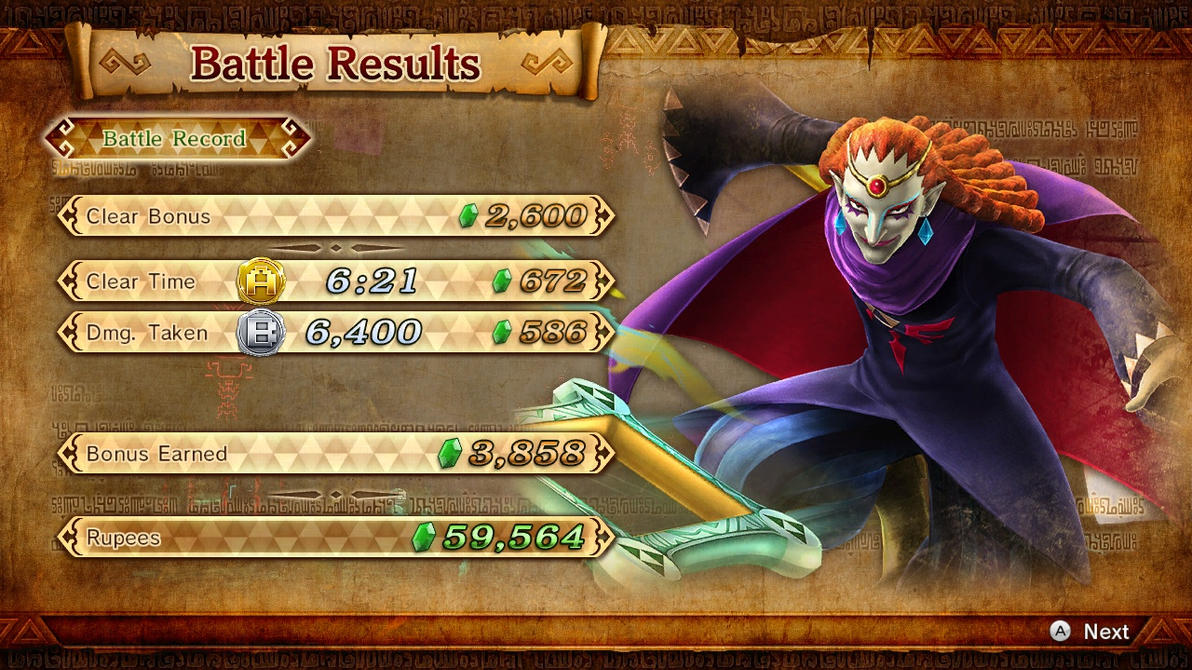 HW Results Screen - Malicious Sorcerer by ObsessedGamerGal86