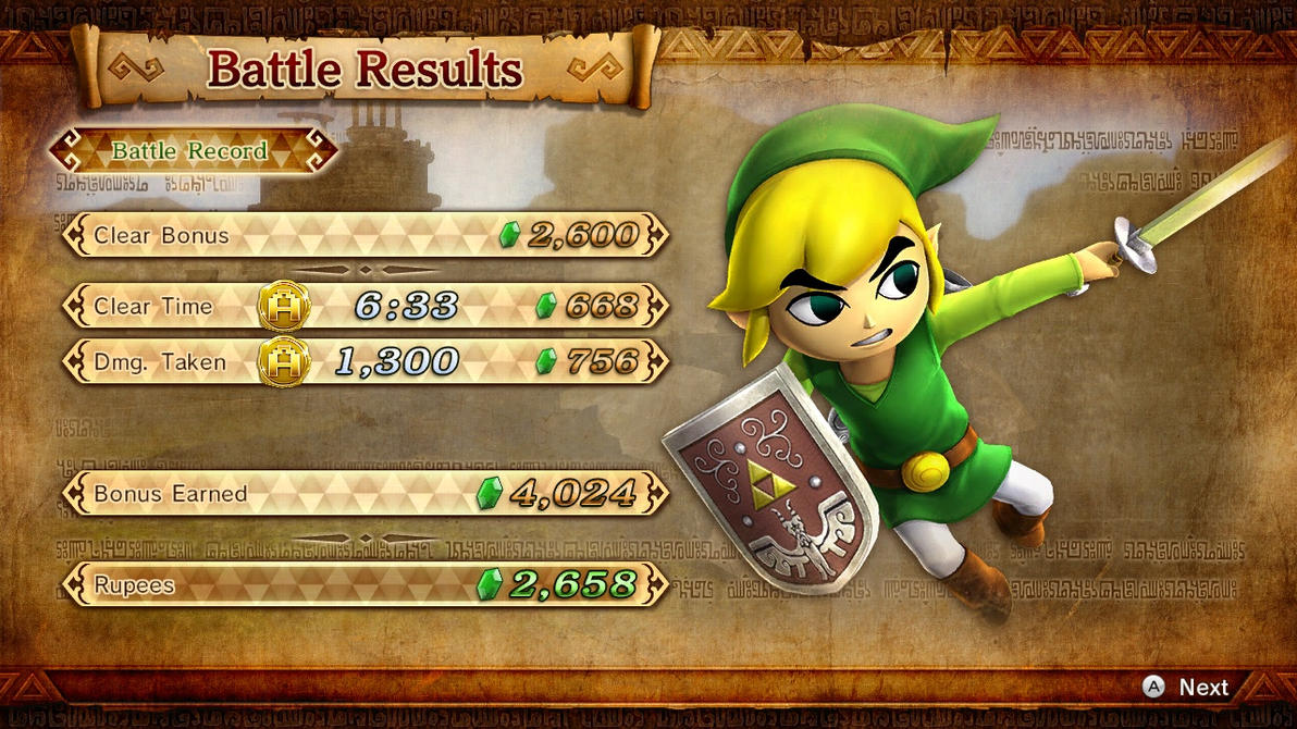 Hyrule Warriors Results Screen - All Tooned Up! by ObsessedGamerGal86