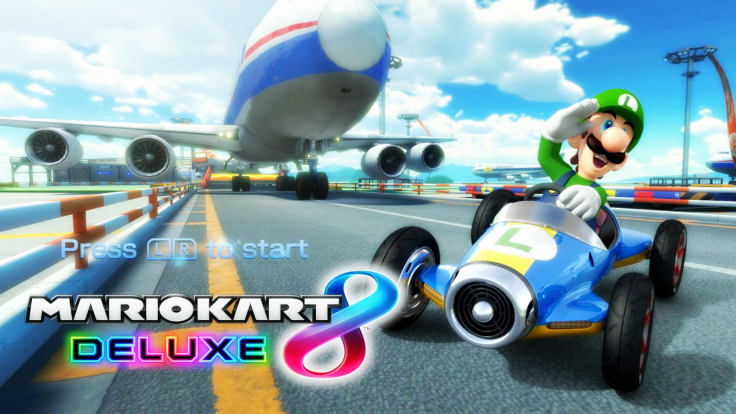 Mario Kart 8 Background: Cheeful Luigi! By ObsessedGamerGal86