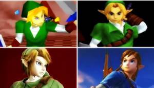 Dairanto Smash Bros. Link's Victory Pose Evolution