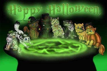 Green Halloween by Thyria