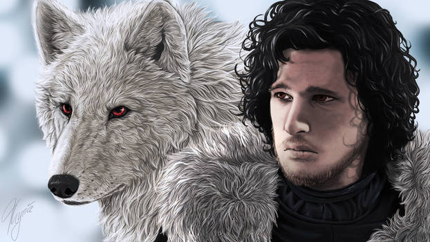 GOT Fanart ~ Ghost and Jon