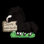 185   rail-birds advert