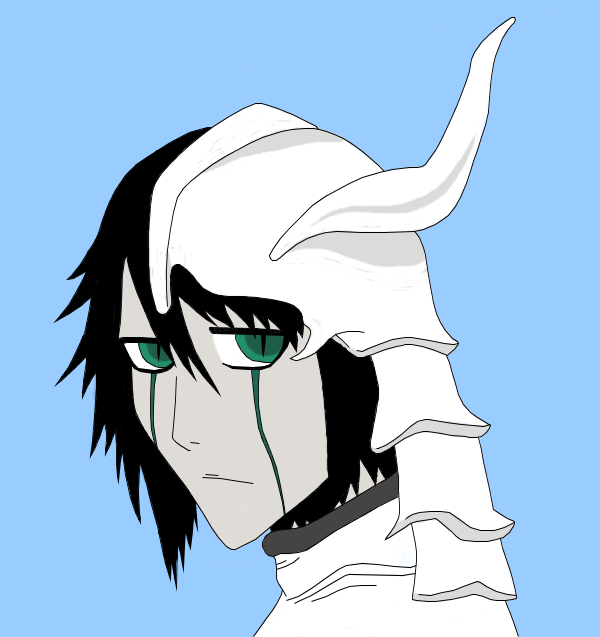 Ulquiorra -Coloured- by x-Wyvern-x