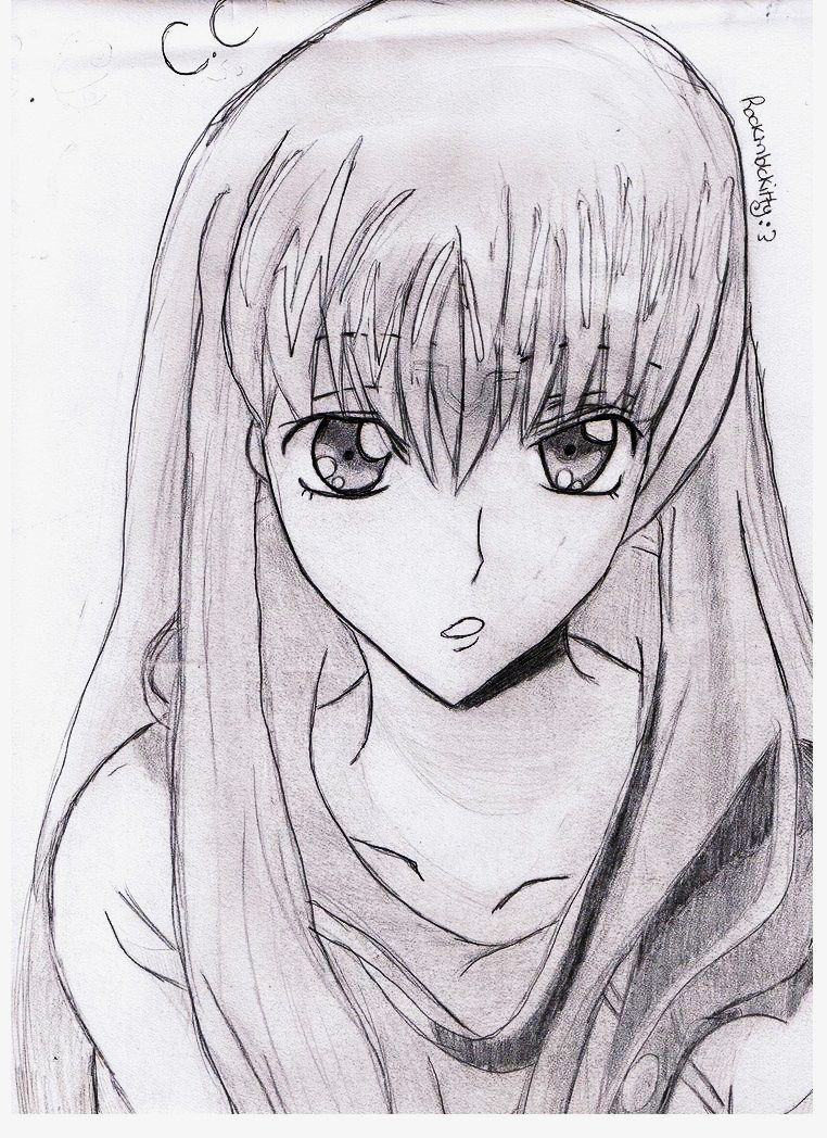 C.C Code Geass pencil drawing by Rockinblckitty on DeviantArt