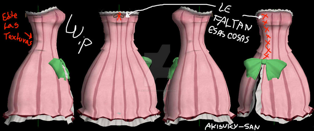 ColorfulxSexy Dress wip2 by Akisuky-san