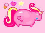 Fat Pink Unicorn Pony :D
