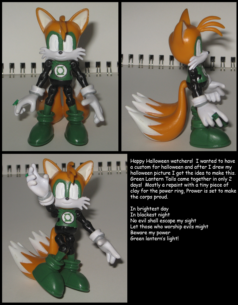 Green Lantern Tails custom by Wakeangel2001