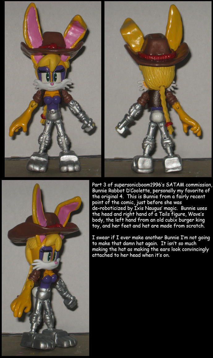 Custom Commission: Bunnie Rabbot D'Coolette by Wakeangel2001