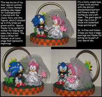 Commission: Sonic themed Wedding Cake Topper by Wakeangel2001