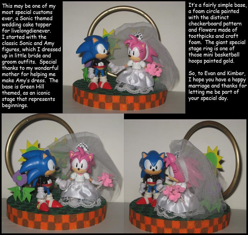 Commission: Sonic themed Wedding Cake Topper by ...  Commission: Son...