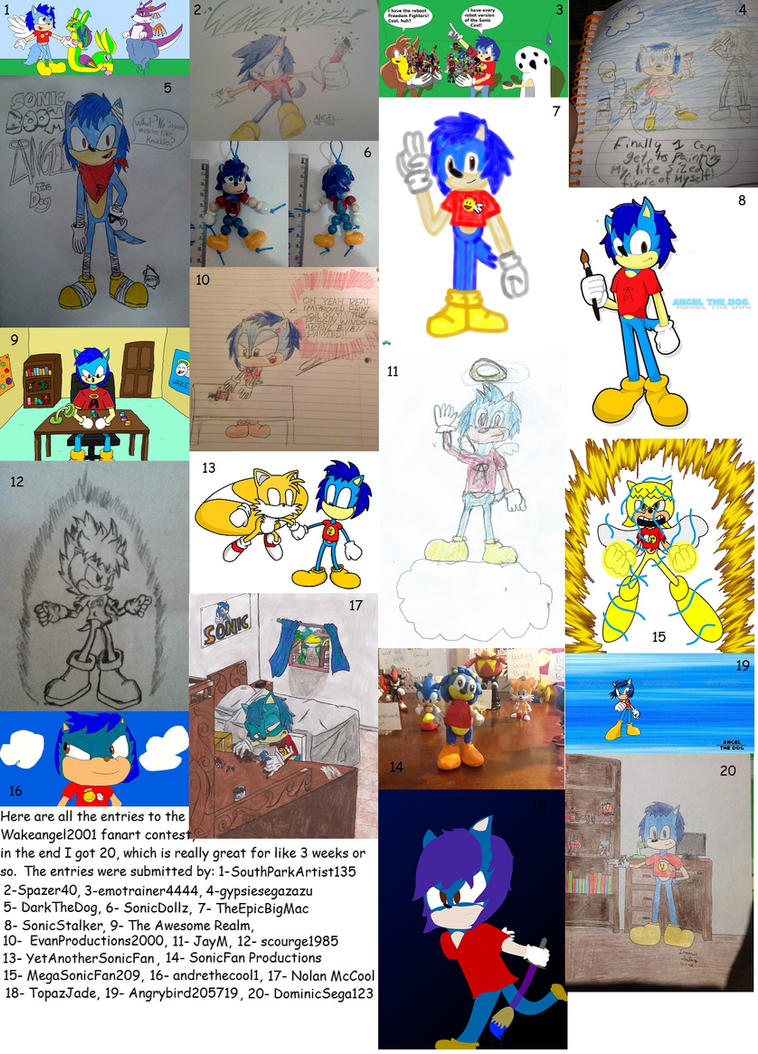 Wakeangel2K1 fanart contest entries by Wakeangel2001