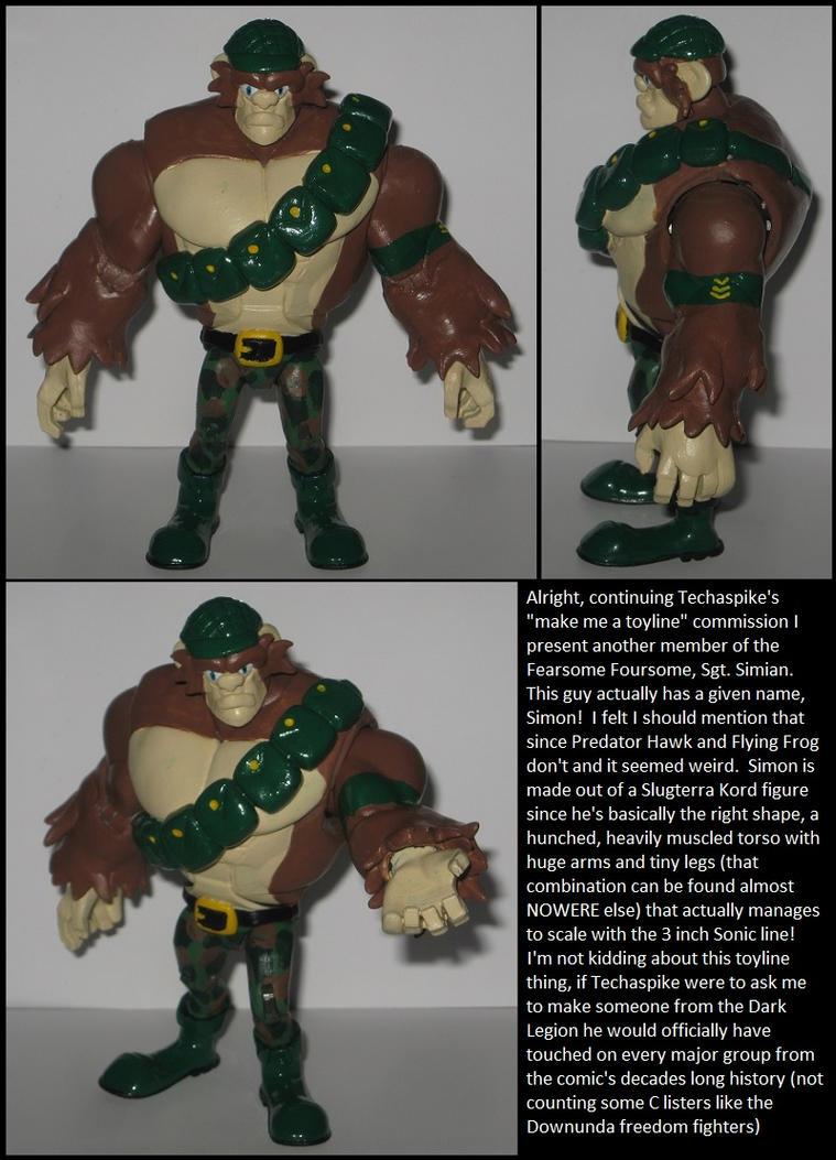 Custom Commission: Sgt. Simian by Wakeangel2001