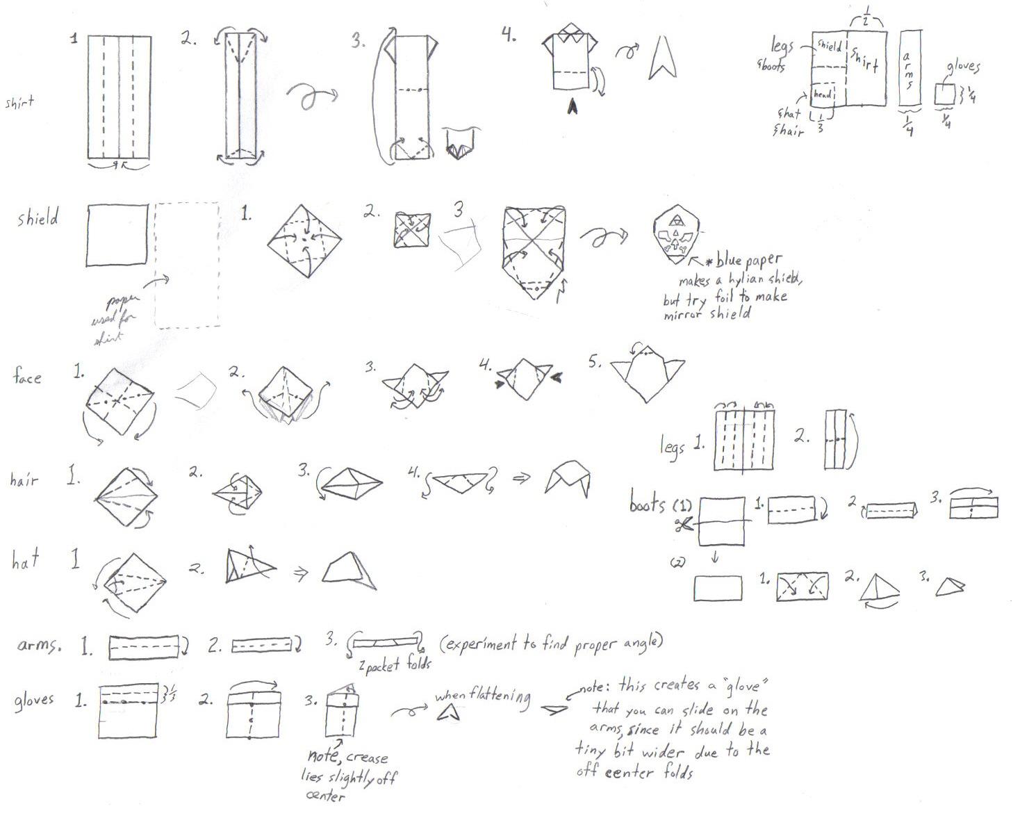 How to make a Ninja origami paper sword | Dobradura de papel ... | 1190x1468
