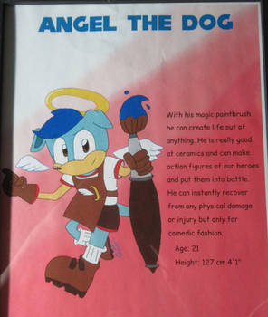 Angel character bio by Prower Studios
