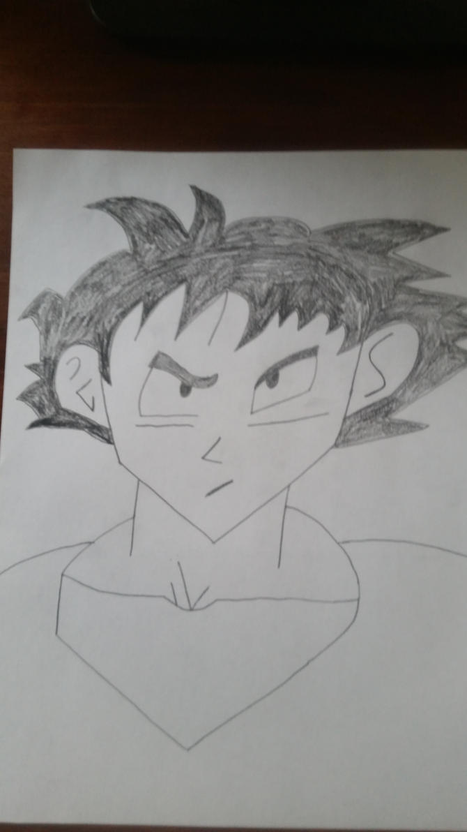 Drawing of Goku from Dragon Ball by PIZZAPIE97