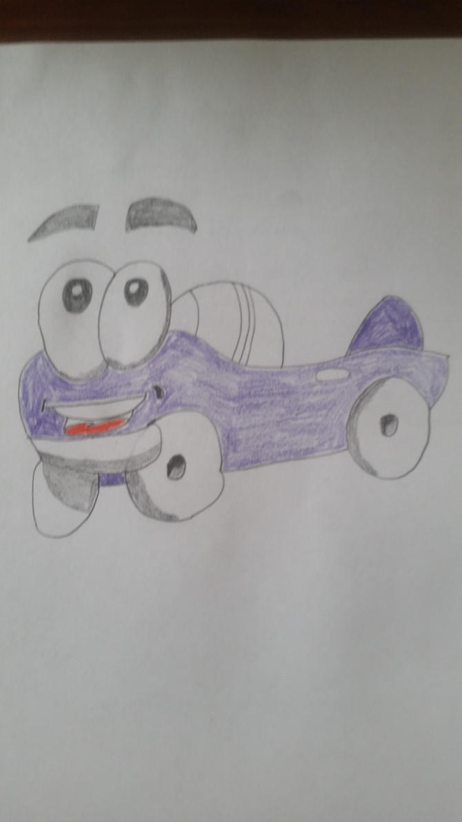 Drawing of Putt-Putt by PIZZAPIE97