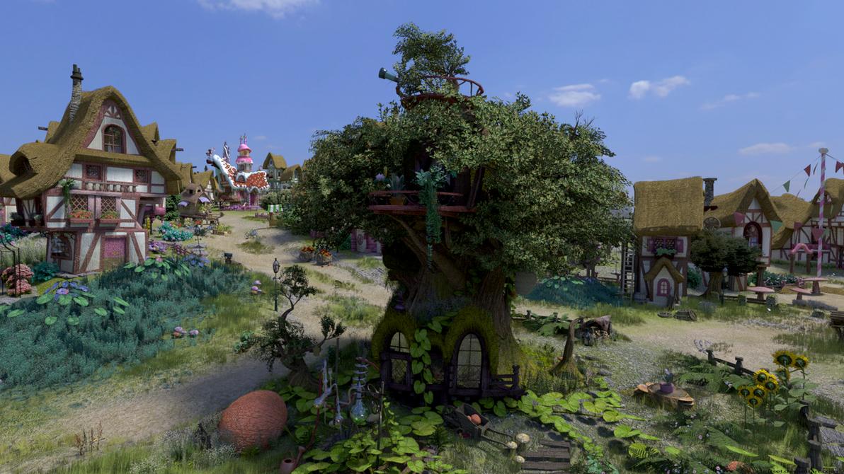 Golden Oak Backside Full HD by Chritsel