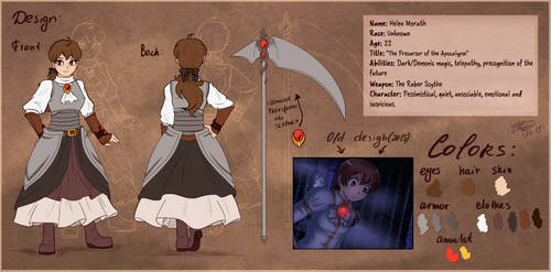 .: OC reference card - Helen Morath :. by AquaGD