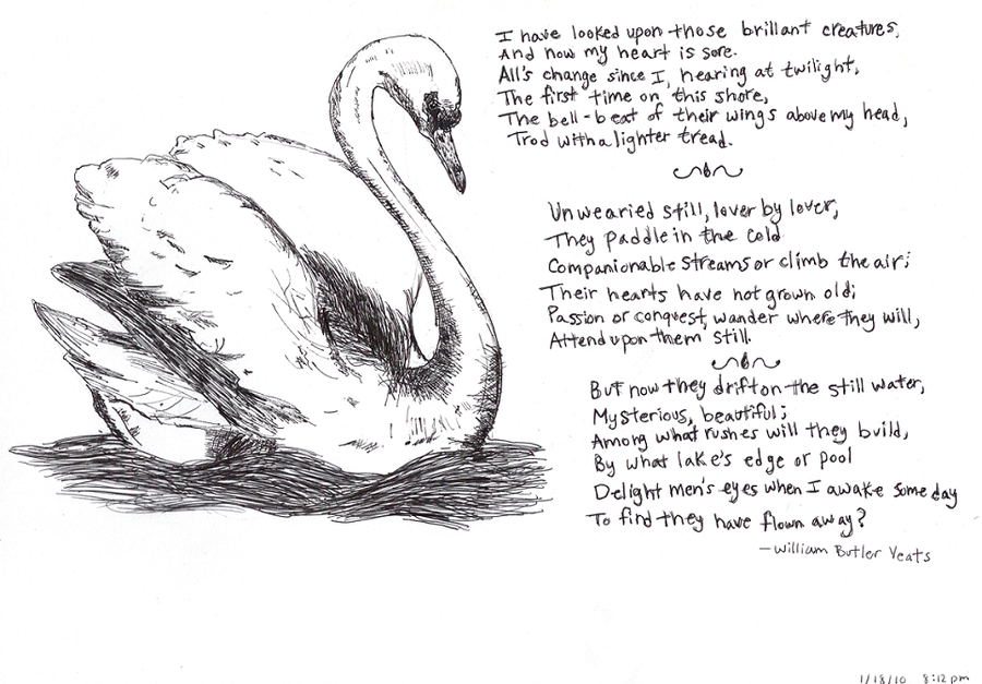 "the wild swans at coole by A summary of ""the wild swans at coole"" in william butler yeats's yeats's poetry  learn exactly what happened in this chapter, scene, or section of yeats's."