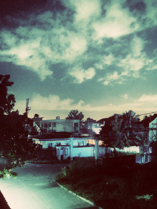 View from the rooftop at night by MeGoSa