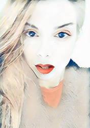 Blonde Blue by mariamel23