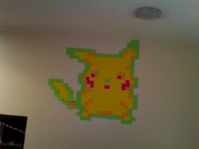 Post it note Pikachu by Physiqs