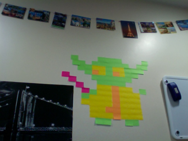Post it note Yoda- May the adhesive be with you by Physiqs
