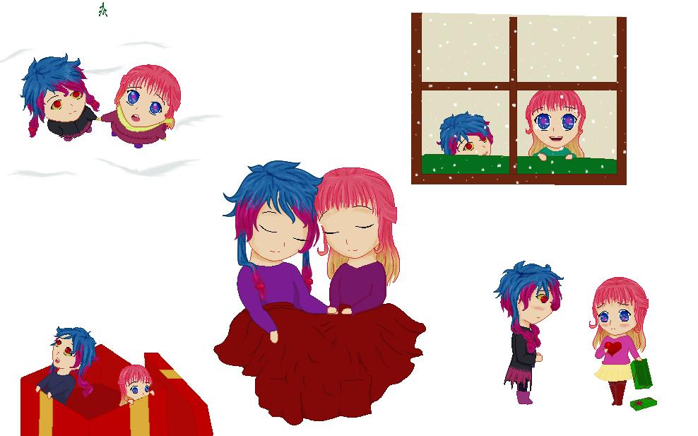 Chibi Christmas (Secret Santa) by Ametyr