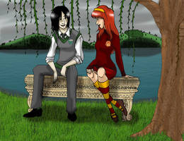 Lily and Severus by DeficientAtLife