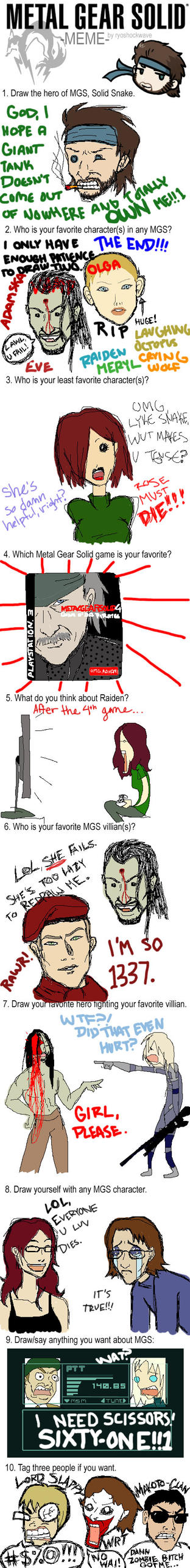 MGS Meme by DeficientAtLife