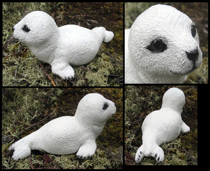 Baby harp seal by motionhappy on DeviantArt