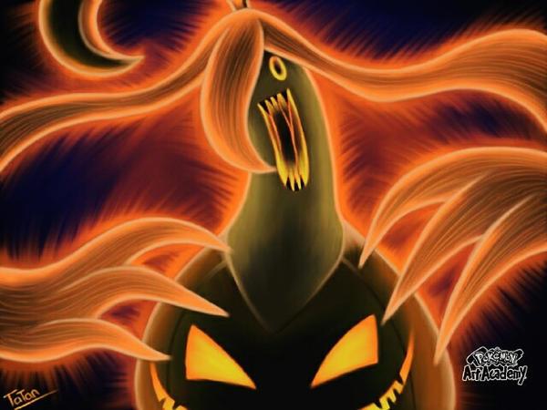 Gourgeist Pokemon Scary by tatanRG on DeviantArt