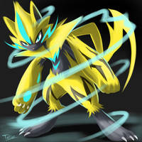 Zeraora Pokemon UltraSun Pokemon UltraMoon by tatanRG