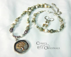 Tree of Life with Howlite and Peace Jasper