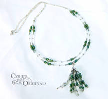 Two tier Jellyfish necklace