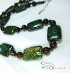 African green Jasper and agate necklace