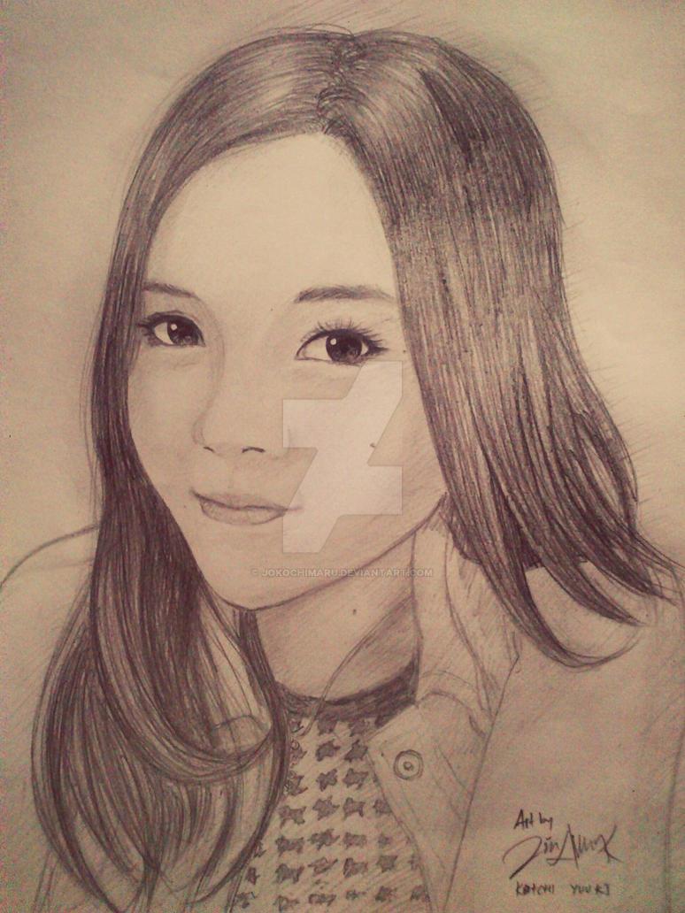 Asian girl pencil drawing by jokochimaru