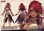[Auction] Adoptable :Black female warrior [OPEN] by jokochimaru