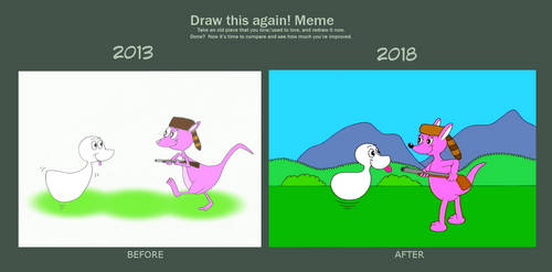 Draw this again. Davy y el gamusino by limaneko