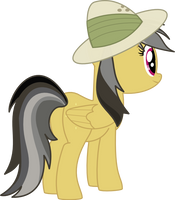 Daring Do and the 3/4 view by SnowflamePony