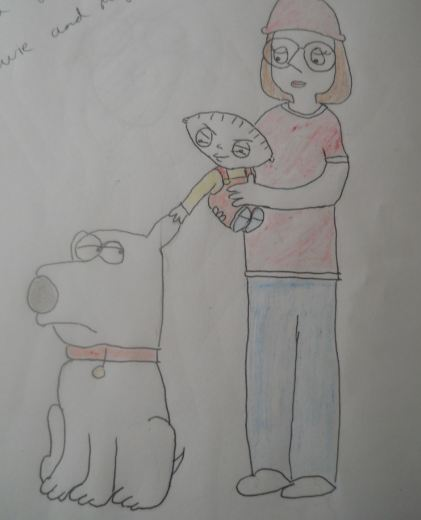 brian stewie and meg by naniloke