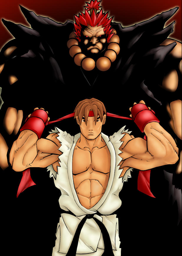 Ryu and Gouki by wwmoogleman