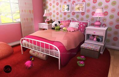 Pink Room (daytime) by iamleddie