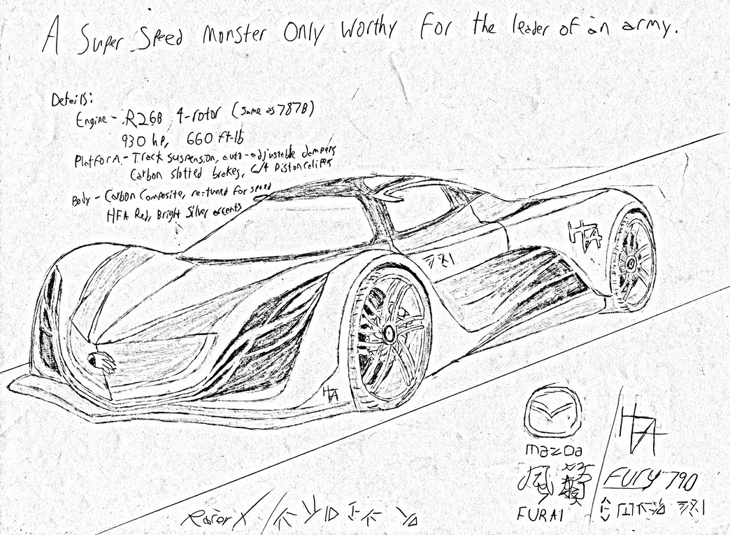 mazda furai  u0026 39 hfa fury 790 u0026 39  by racerxnfs on deviantart