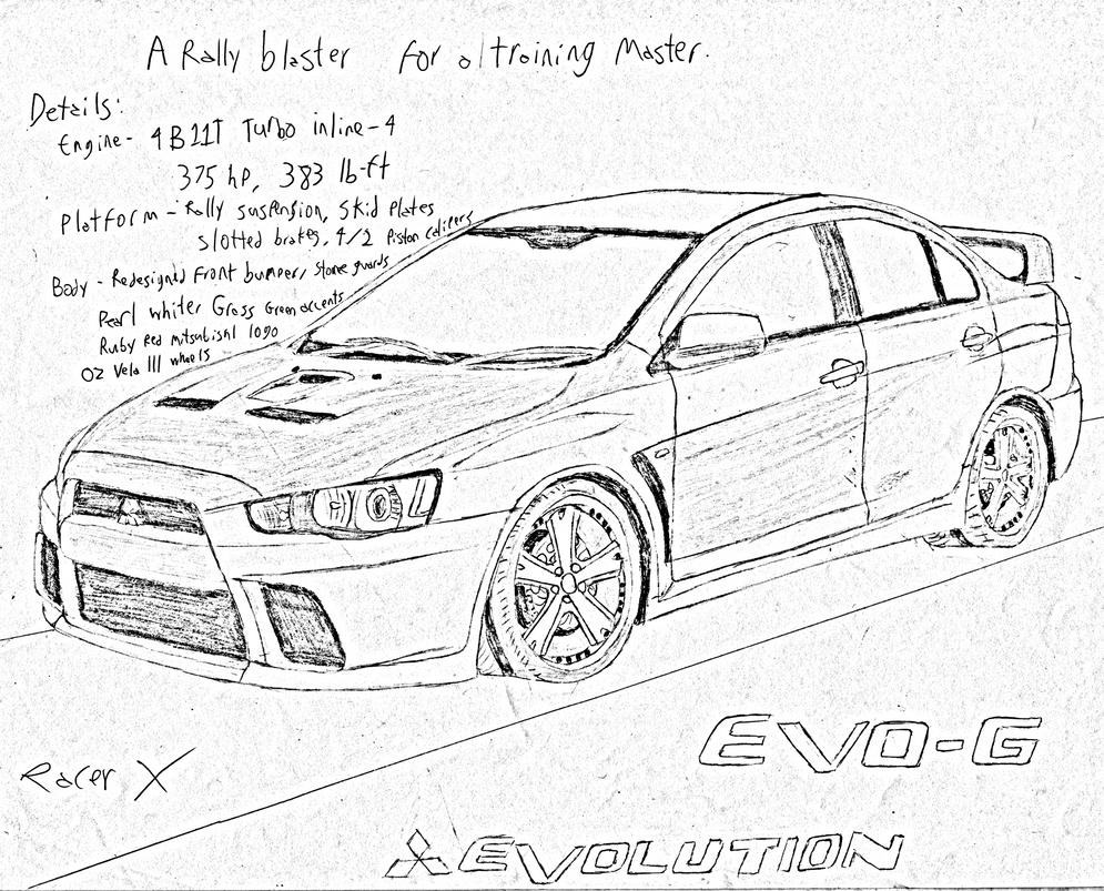 mitsubishi evolution x evo g by racerxnfs