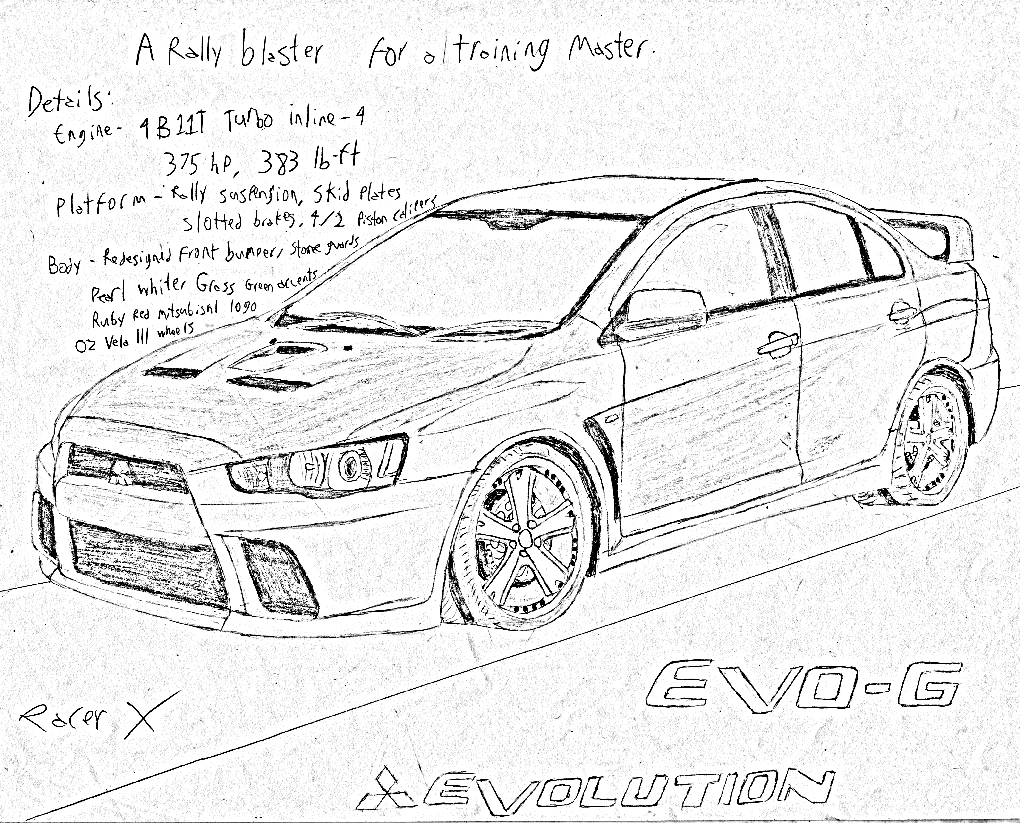 lancer evo rally parts