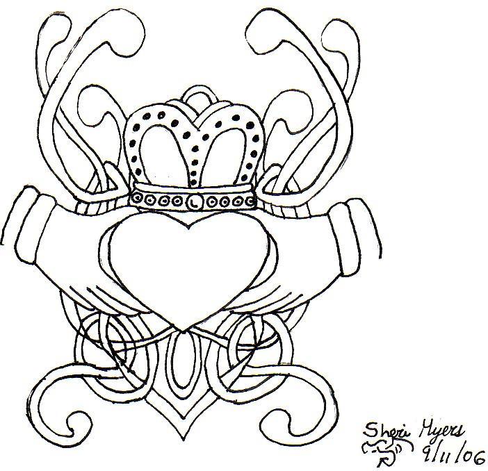Claddagh Ring Tattoo Drawings