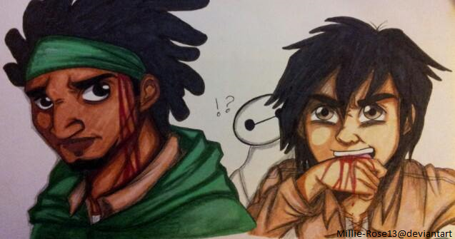 Attack on big hero 6 wasabi and hiro by millie rose13 on deviantart